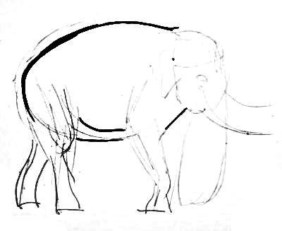 Рисуем индийского слона
