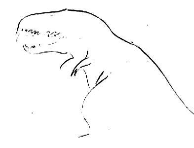 Тираннозавр -поэтапный рисунок