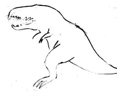 Нарисуем тираннозавра