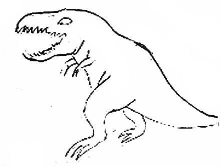 Стилизованный рисунок тираннозавр