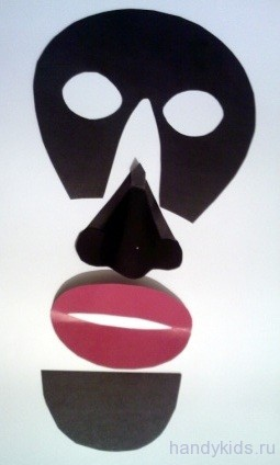 выкройка маски негра