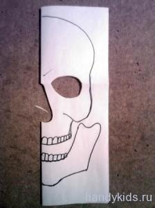 Вариант выкройки маски черепа
