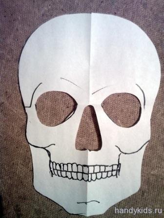Готовая маска-череп