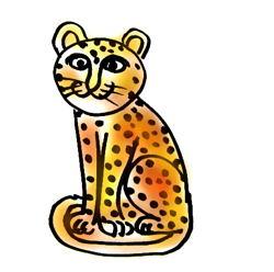 Леопард рисунок