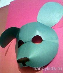 Как сделать маску щенка