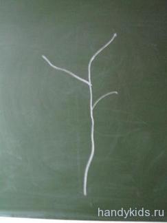 рисуем ветку дерева