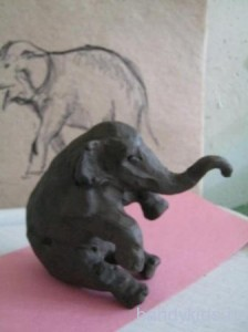 Лепка слон