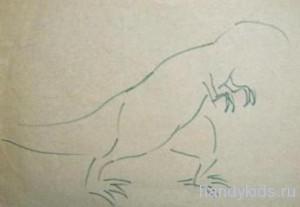 Рисование тиранозавра