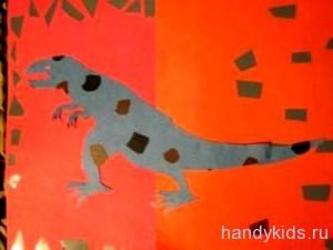 Силуэт тиранозавра
