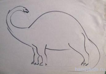 Нарисуем динозавра