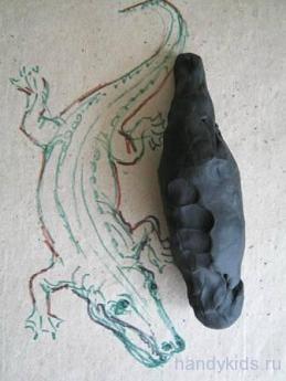 Как поэтапно слепить крокодила