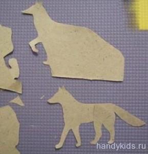 Как вырезать волка и лису