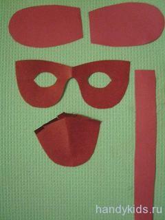 Выкройка деталей для маски собачки