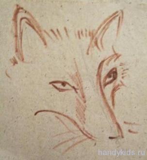 Как рисовать голову лисы