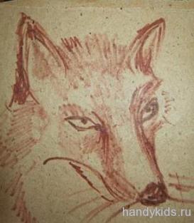 Нарисованная голова лисы