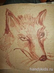 Нарисуем портрет лисы