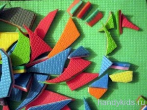 Как применить обрезки туристических ковриков?