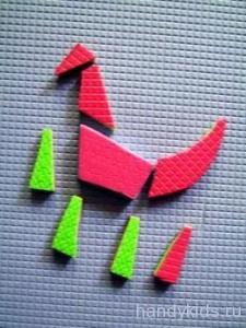 Игрушка из туристического коврика