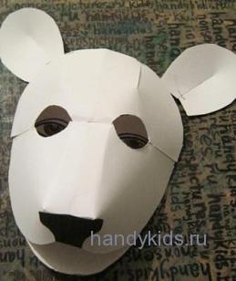 Делаем маску белого медведя