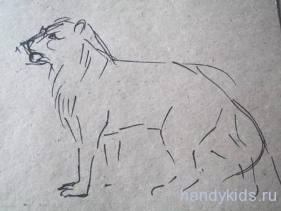 Рисование льва