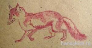 Как рисовать лису