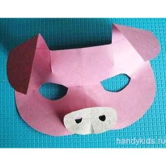 Маска  свиньи или поросёнка