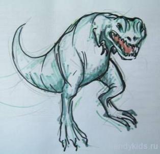 Рисунок тиранозавр