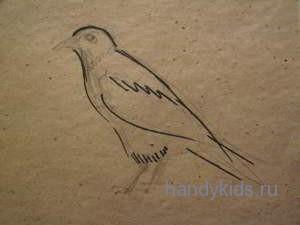 Рисуем ворону