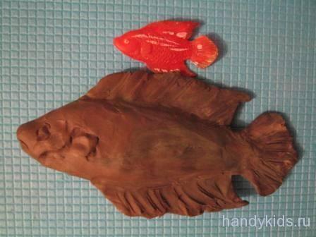 Пластилиновая рыбка