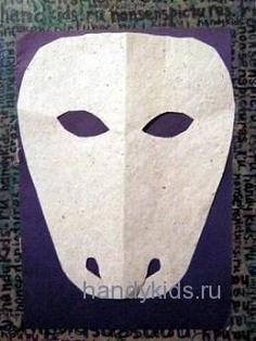 Выкройка для маски травоядного животного