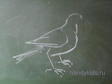 Рисуем голубя.