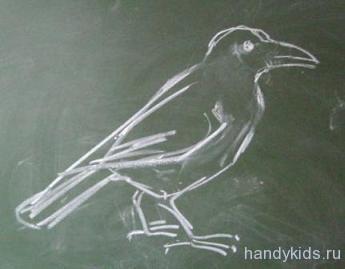 Как рисовать птицу поэтапно