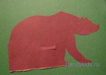 Контур медведя.
