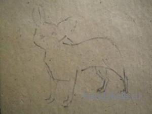 Как рисовать собачку