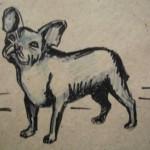 Рисунок-французский бульдог