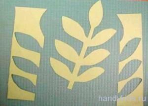 Вырезаем листья деревьев из бумаги