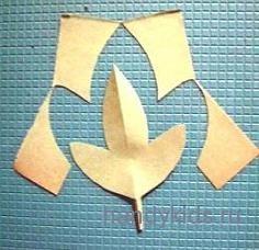 Вырезаем из бумаги листья растений