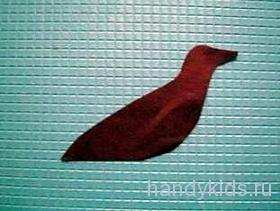 Птичка из цветной бумаги