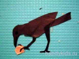 Птица из цветной бумаги