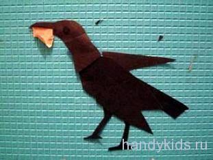 Вырезаем птицу из бумаги