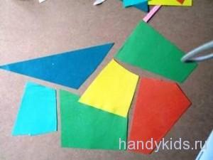 Наборный фон из обрезков цветной бумаги