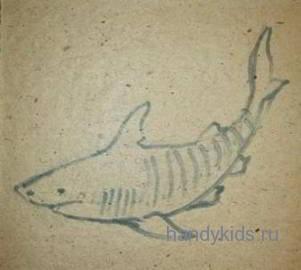 Рисунок акула