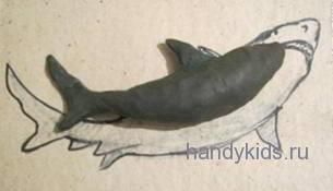 Как лепить акулу
