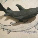 Лепим акулу и дельфина