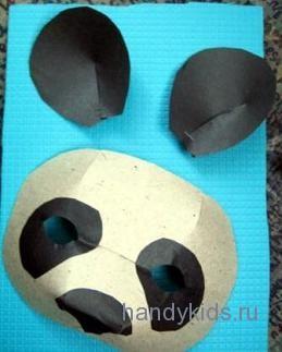 Поэтано сделаем маску панды