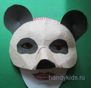 Вариант маски панды
