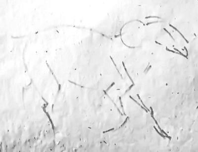 Карандашный набросок барана