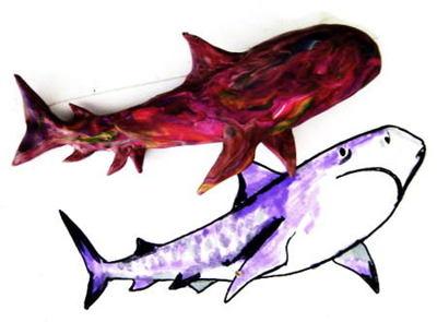 Лепка Акула -этап 3