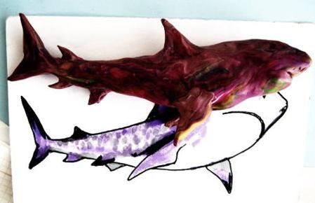 Акула из пластилина