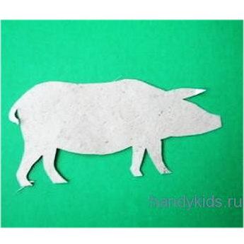Силуэт свинки из бумаги